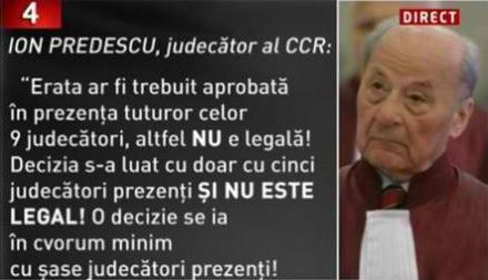Declaraţia judecătorului Ion Predescu CCR -Foto Google