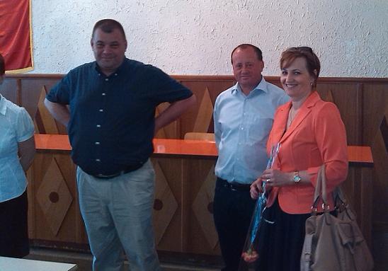 Adrian Nicolae FILIP vice primar şi Vasile COMAN primar - Foto: Mircea Şerban