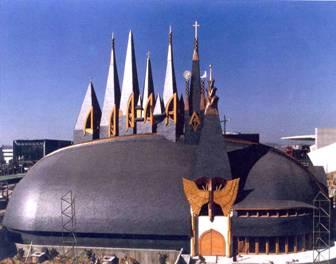 Pavilionul Ungariei la Expoziţia Universala Sevilla 1992, autor Imre Makovecz - Photo: Google