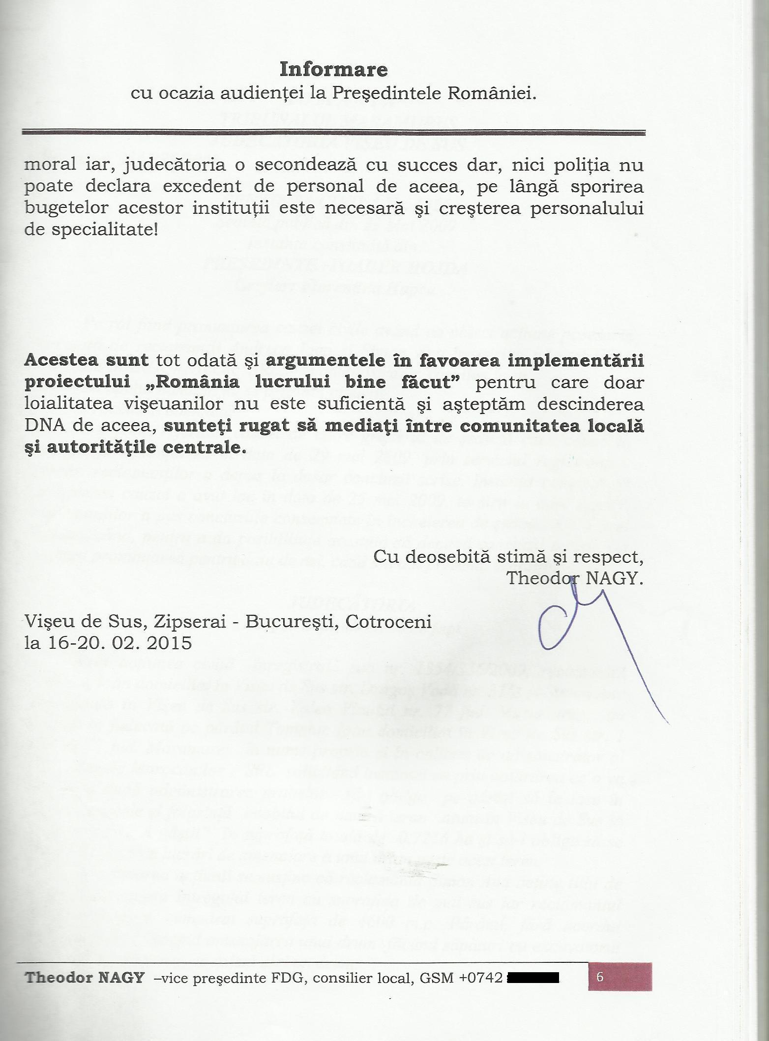Informare Iohannis script pag. semnatura originala TN